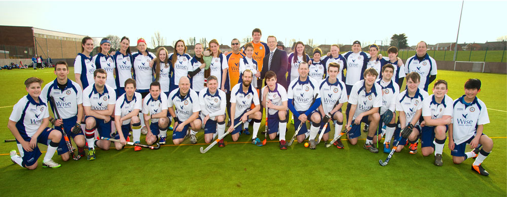 Gavin Wise with Hartlepool Caledonians Hockey Club